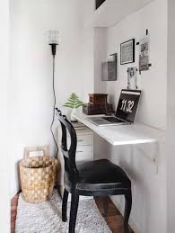 small home office with wall mounted desk ways to build wall