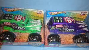 wheels monster truck jam wheels monster jam 1 24 scale spectraflames purple and green