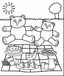 spectacular teddy bear picnic coloring pages with teddy bear