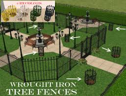 mod the sims decorative wrought iron tree fences with recolors