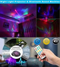 sound machine with light projector amazon com sycees night light projector bluetooth sound machine