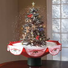 wonderful decoration snowing tree tabletop the green