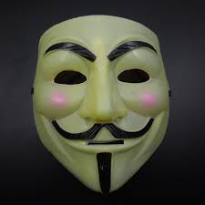 Super Scary Halloween Masks Aliexpress Com Buy Yellow Full Face V Mask Vendetta Mask Super