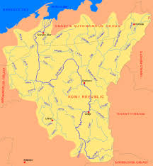 map of europe and russia rivers pechora river