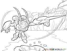 skylanders swarm coloring page swarm free color page download