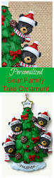 black bear family christmas tree ornament personalized with the