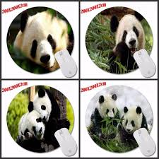 mousepad designen the panda eats bamboo mouse pad custom design silone me