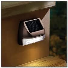 solar powered deck stair lights decks home decorating ideas