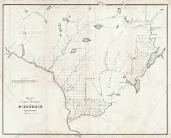 Wisconsin Lakes Map by Maps Antique United States Us States Wisconsin