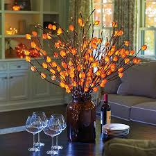 Lighted Branches Lighted Branches With Japanese Lanterns Fall Decoration