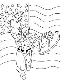 captain america coloring pages for kids free super heroes