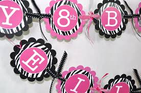 enchanting pink and black birthday party decorations wonderful