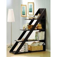 5 Tier Bookshelf Ladder Bookcase Tropical Living Room With Ladder Bookcase 5 Tier Wooden