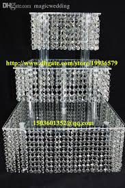 bling cake stand acrylic chandelier wedding square cake stand 3 tier