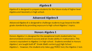 river dell math placement 7th grade into 8 th grade ppt download