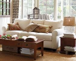 Pottery Barn Tanner Coffee Table by Living Room Pottery Barn Living Room Ideas Brown Polyester Sofa