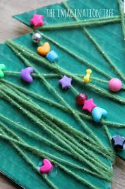 yarn and bead christmas tree craft the imagination tree