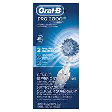 oral b pro 2000 power rechargeable electric toothbrush powered by