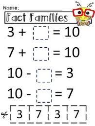 the 25 best fact family worksheet ideas on pinterest fact