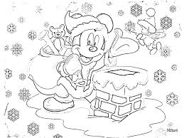 mickey mouse christmas coloring pages for kids disney crafts