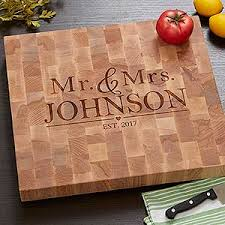 wedding cutting board personalized butcher block cutting board wedding gift
