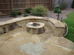 Stone Patio With Fire Pit Interior Paver With Firepit And Stone Bench Stone Bench Stone