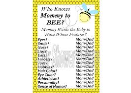 bumble bee baby shower game mommy to bee theme baby shower