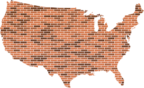 United States Maps by Clipart United States Map Bricks