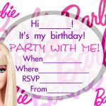 card invitation ideas easy black pink cutea pretty awesome barbie