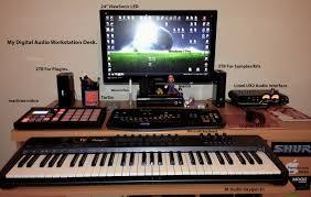 studio keyboard desk my digital audio workstation desk riddim riders