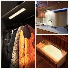motion sensor under cabinet lighting innogear under cabinet lighting counter closet light warm white