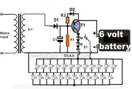 how emergency light works simple led emergency light circuit