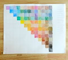 grow creative blog how to watercolor color mixingcolor chart