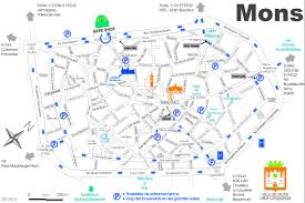 belgium city map mons city center map