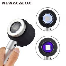 10x magnifying glass with led light newacalox portable 10x magnifying glass with scale led light