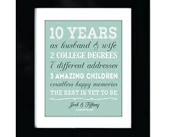10 year anniversary gifts for husband personalized 10 year anniversary gifts for him lamoureph