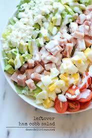 leftover thanksgiving ham cobb salad damn delicious