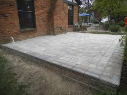 Raised Paver Patio Paver Patio Maintenance Home Design Ideas And Pictures