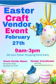 customizable design templates for easter craft vendor event flyer