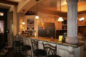 simple designed hanging lights illuminating kitchen bar ideas and