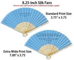 silk fans personalized silk fans add only 0 75 for wide print