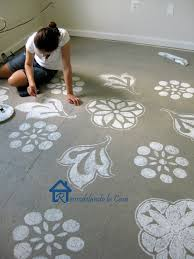 remodelando la casa diy painted swiss cross rug