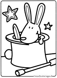 mes premiers coloriages le petit lapin de magicien sort de son