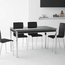 table en verre cuisine table de cuisine en verre avec rallonge bambola 4 pieds tables