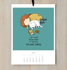 a funny cat calendar for all the cat lovers out there