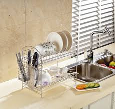 kitchen storage shelves ideas chrome dish drying rack 2 tier plates holder kitchen storage shelf