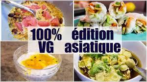cuisine végé 100 végé une journée dans mon assiette asiatique