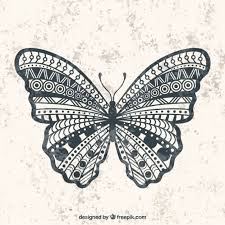tribal wings design butterfly side view icons free download