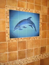 pin modern tile mural in home wet bar modern family room on