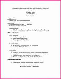 resume exles for college students with work experience resume exles with no work experience